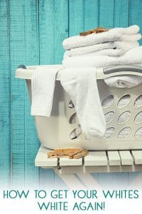 Best ways to get your white clothes bright and white again. Top tips from a busy mum to help with the laundry.