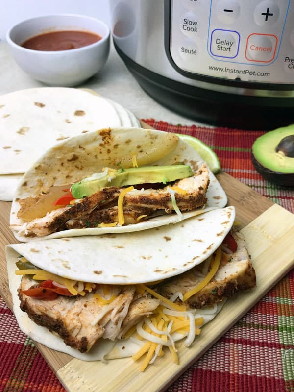 homemade chicken fajitas in the instant pot