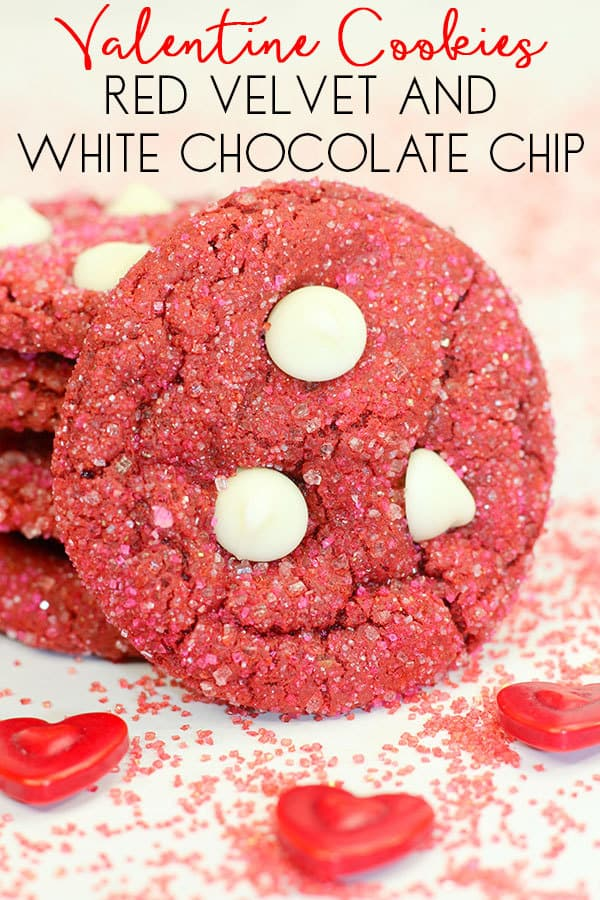 Easy Valentine Recipe to Cook with Kids – Red Velvet and White Chocolate Chip Cookies