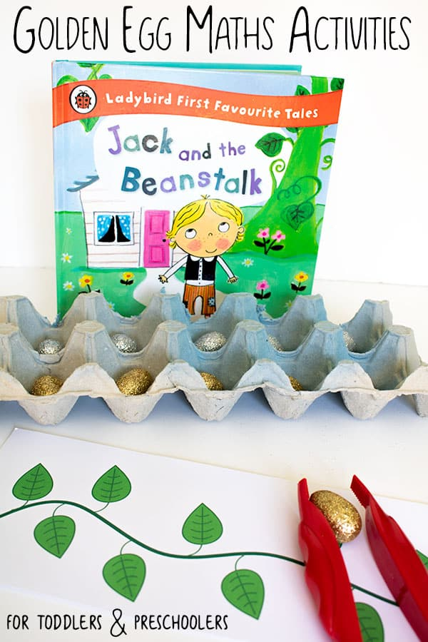 Golden Egg Maths Activities for Toddlers, Preschoolers and Older