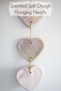 Scented Salt Dough Hanging Hearts Craft