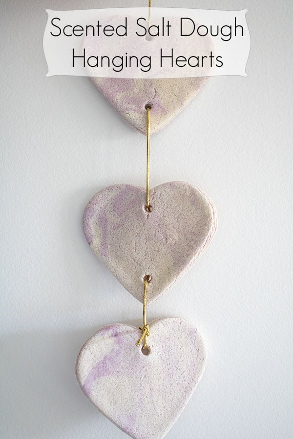 Lavender Scented Salt Dough Hanging Hearts