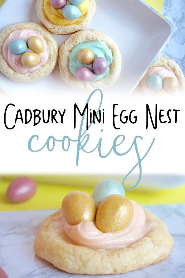 Easy to make Cadbury Mini Egg nest cookies a delicious Easter treat for kids that the whole family will also love.