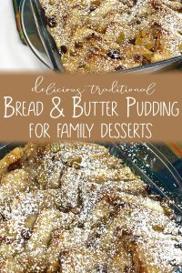 Ideal weekend dessert for families a delicious and traditional bread and butter pudding recipe with juicy raisins and an indulgent homemade custard.