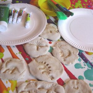 Salt Dough Fossil Craft for Kids to Make When learning about dinosaurs