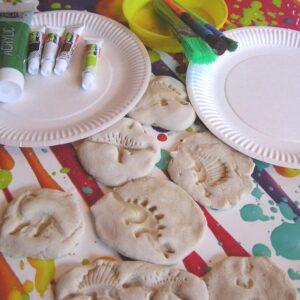 Easy Salt Dough Dinosaur Fossils to Make with Kids
