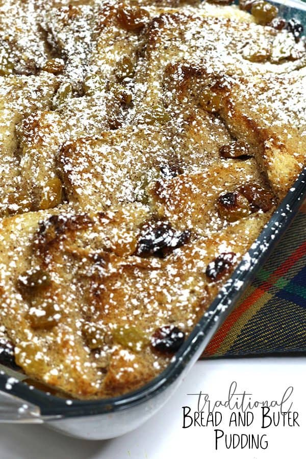 Traditional Tasty Bread and Butter Pudding for Family Desserts
