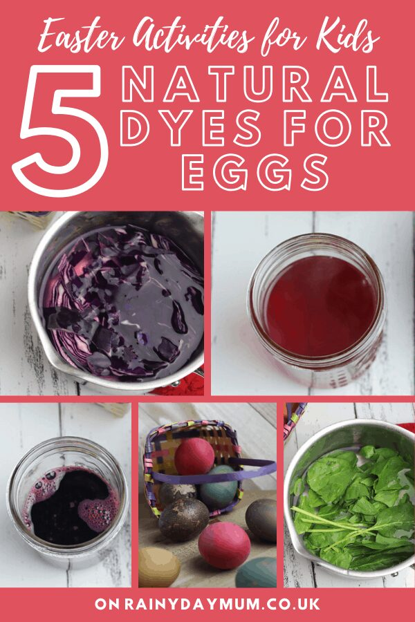 5 Natural Dyes for Easter Eggs to do with Kids