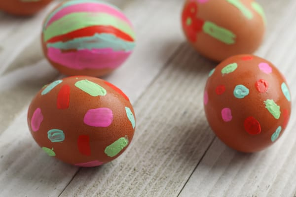 Quick And Easy Toddler Easter Craft Painted Easter Eggs