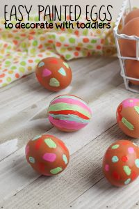 Painted Easter Eggs to decorate with toddlers and other kids