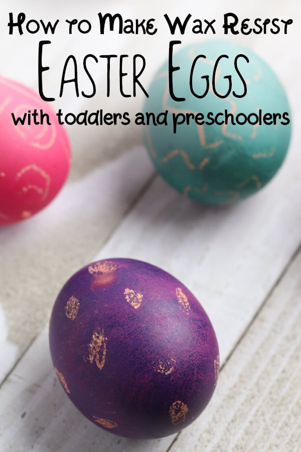 Easy Easter Eggs to decorate with kids – Wax Resist Technique