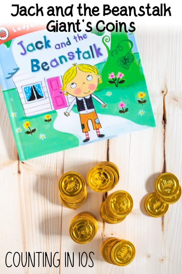 jack and the beanstalk gold coin counting in 10s hands-on learning activity for kids