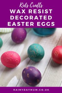 kids craft for easter wax resist eggs
