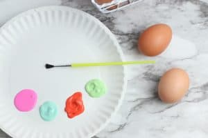 painting blown eggs for easter simple toddler craft