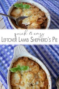 quick and easy recipe using leftover roast lamb ideal for families