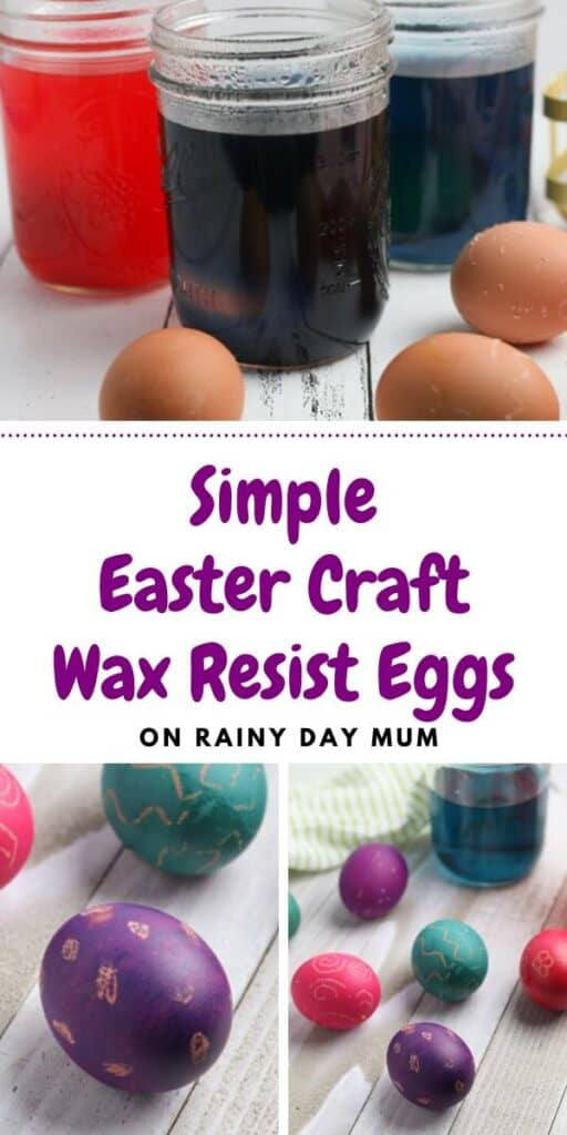 Simple Easter Craft Wax Resist Decorated Easter Eggs