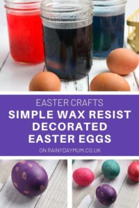 easter crafts for kids wax resist easter eggs