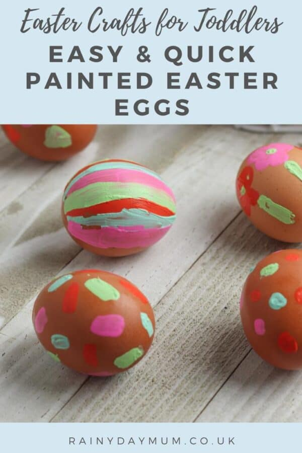 Easter Crafts for Toddlers - quick and easy painted easter eggs