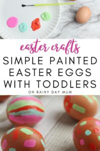 Easter Crafts for Toddlers - Simple Painted Easter Eggs
