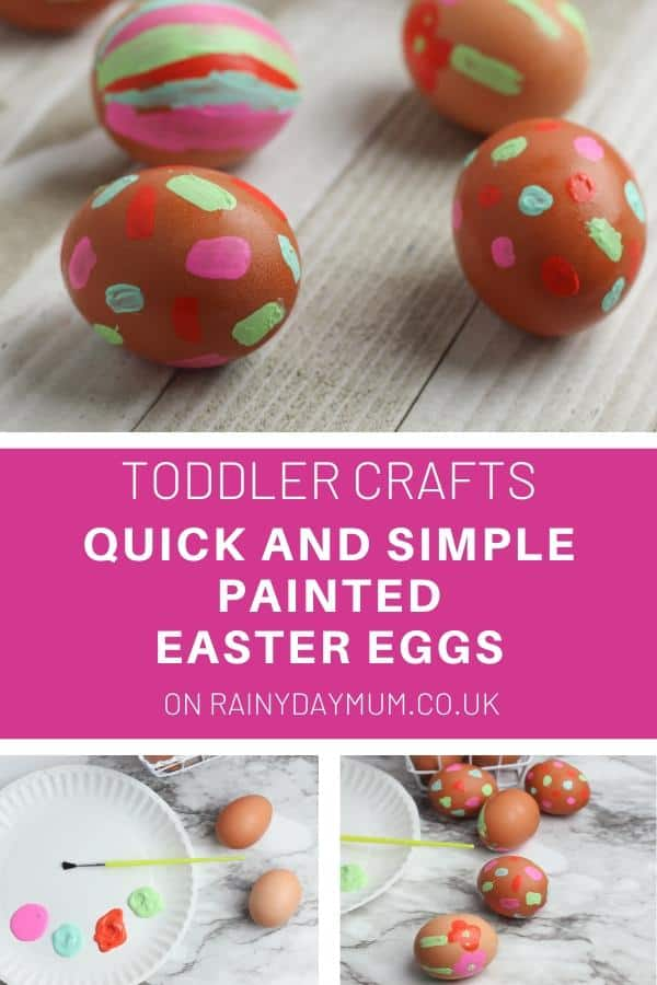 Painted Easter Egg Toddler Craft