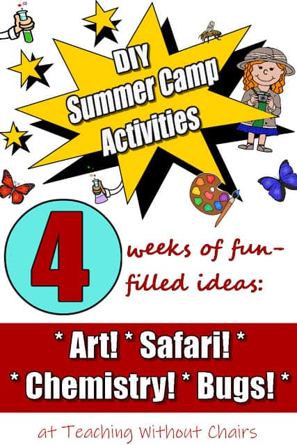 4 weeks of DIY summer camp to do with school kids at home