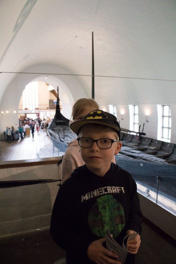 exploring the viking ship museum in oslo with kids