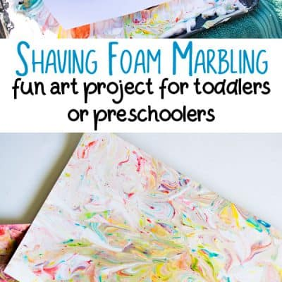 Shaving Foam Marbling – Fun Art Activity for Toddlers and Preschoolers