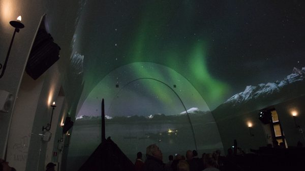 northern lights in the viking ship museum video presentation