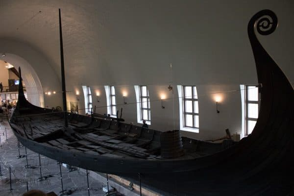 one of the preserved viking ships in the Viking ship Museum in Oslo