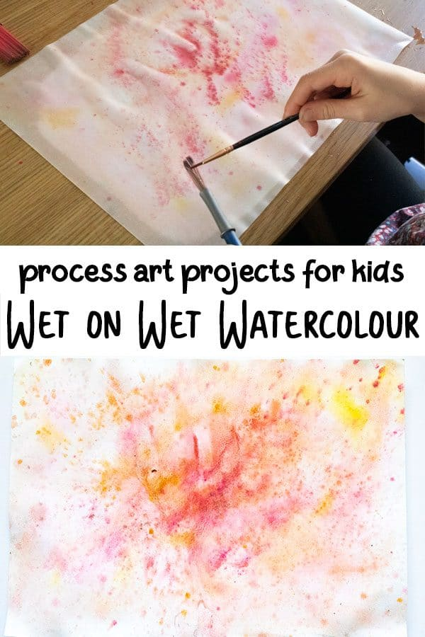 Process art with kids exploring watercolour as a media