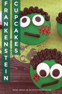 Friendly Frankenstein Cupcakes to make with or for kids