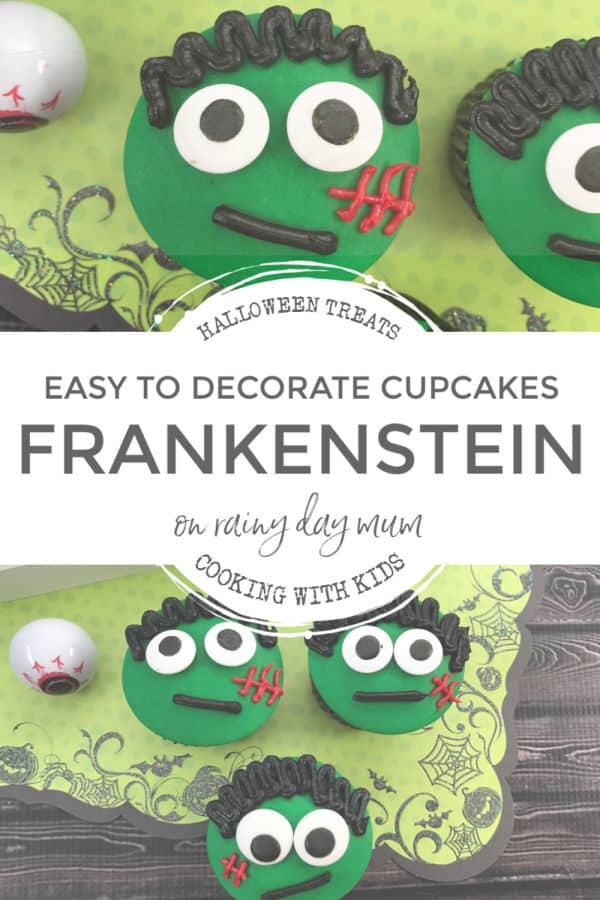 frankenstein cupcakes for kids to decorate