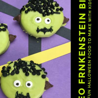 Simple Oreo Cookie Frankenstein's Monster Bites to Make with Kids