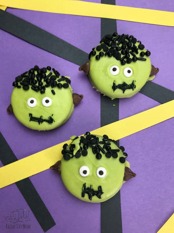 Halloween Oreo Frankenstein Cookies