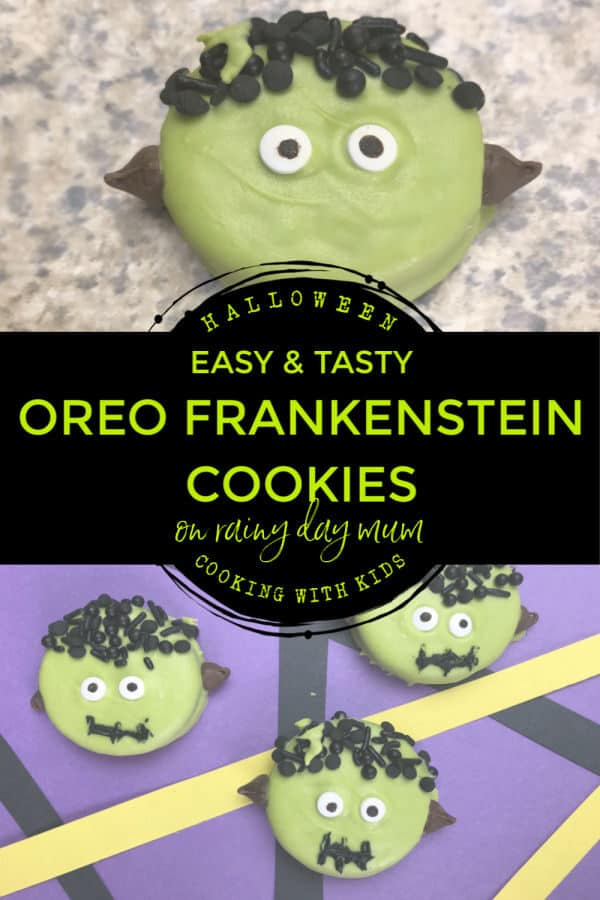 easy and tasty Frankenstein Oreo Bites