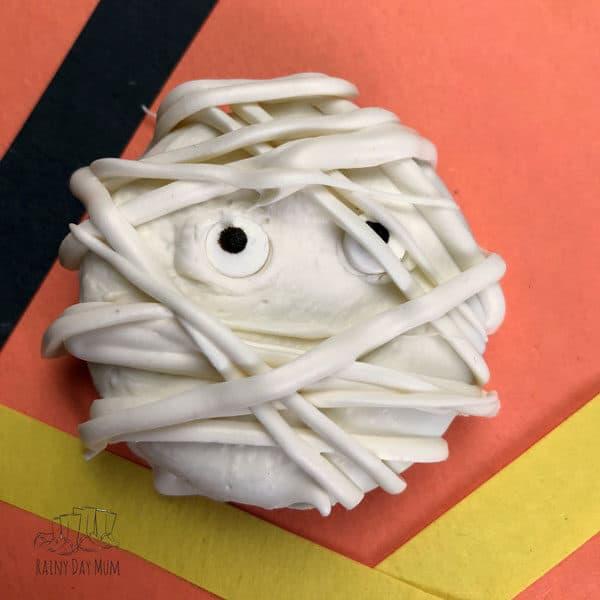 Halloween Mummy Treats made with Oreo Cookies