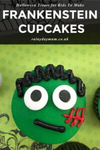frankenstine cupcakes to make and bake with kids