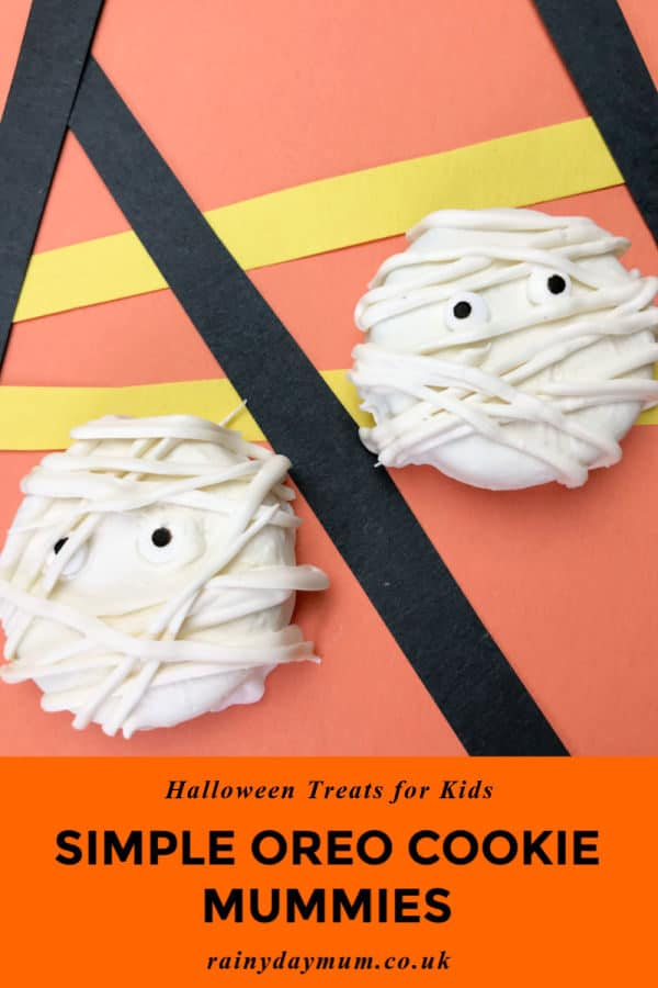 simple oreo cookie mummies so easy you can make them with kids