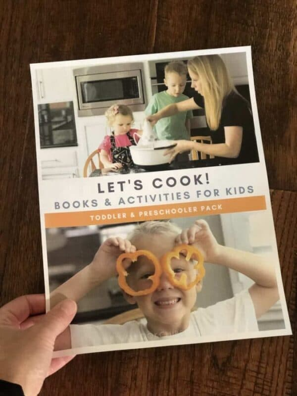 Let's Cook Pack of Activities for 2 to 8 years olds from the Virtual Book Club for Kids