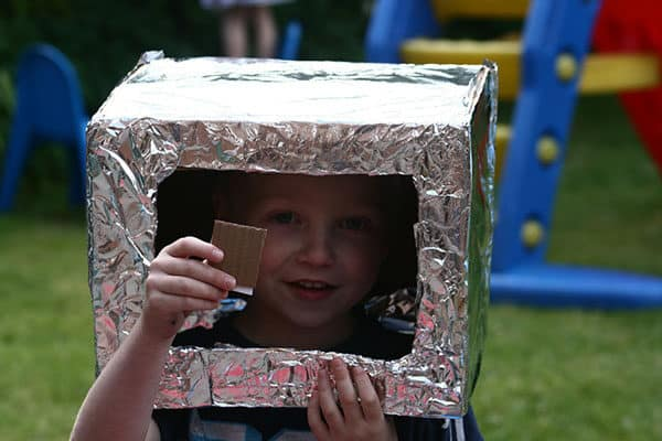 space helmet ready for dials and gadgets to add homemade by the child