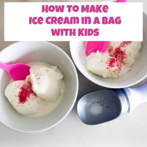 How to make ice cream in a bag with kids - fun summer science and cooking with kids