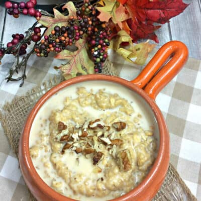 Instant Pot Pumpkin and Maple Syrup Porridge