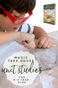 unit studies inspired by the Magic Tree House books for kids from age 6 - 9