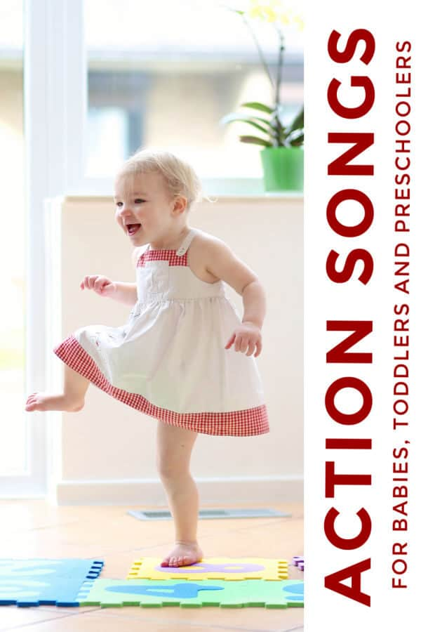 action songs for babies, toddlers and preschoolers