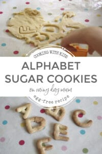 Alphabet Sugar Cookies Recipe on Rainy Day Mum