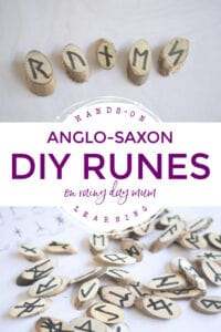 Hands-on History Learning Anglo-Saxon DIY Runes