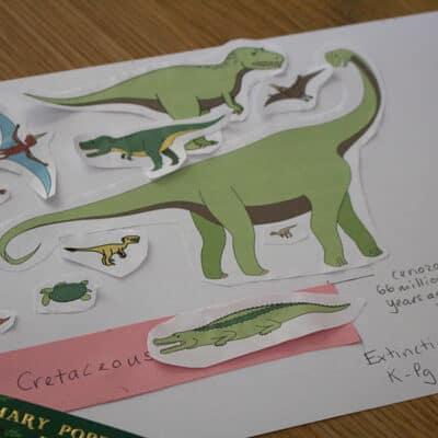 cretaceous dinosaurs on a timeline