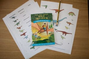 Dinosaurs before dark and activity based on the book