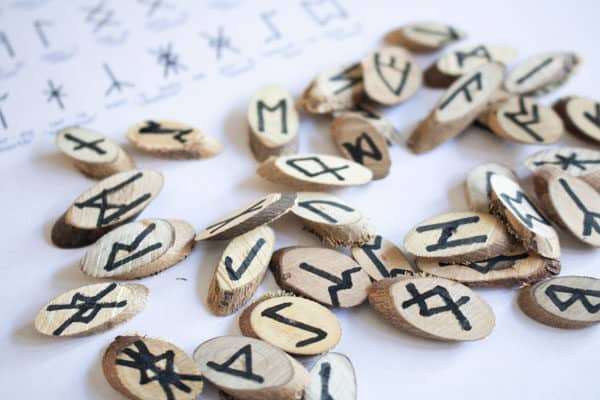 DIY Wooden Runes for Kids to make