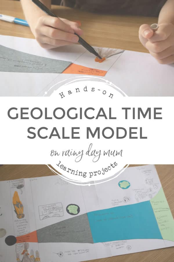 Geological Time Scale Model Project for Kids interesting in Learning more about the Evolution of the Earth